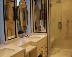 Ванная комната мрамор<br>Полисандро лайт, Неро марквина
