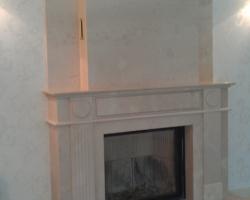 Камин материал мрамор Крема нова