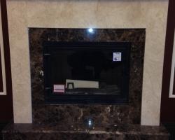Камин из мрамора Имперадор дарк и Крема нова