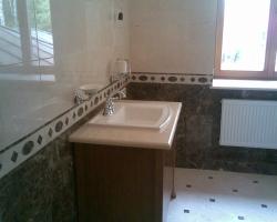 Столешница для ванной комнаты мрамор Крема марфил