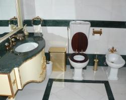 Столешница для Ванной комнаты материал мрамор Верде гватемала