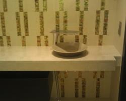 Столешница в санузел мрамор Крема марфил