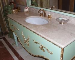 Столешница в ванную комнату материал мрамор Россо перлино