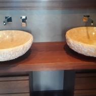 Оформление ванной комнаты. Фото 1.