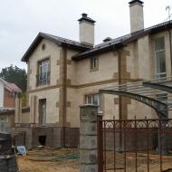 Облицовка фасада натуральным камнем. Фото 2.